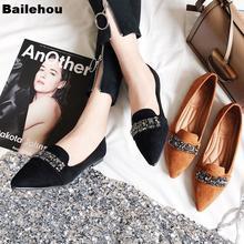 Bailehou женские балетки на плоской подошве с острым носком