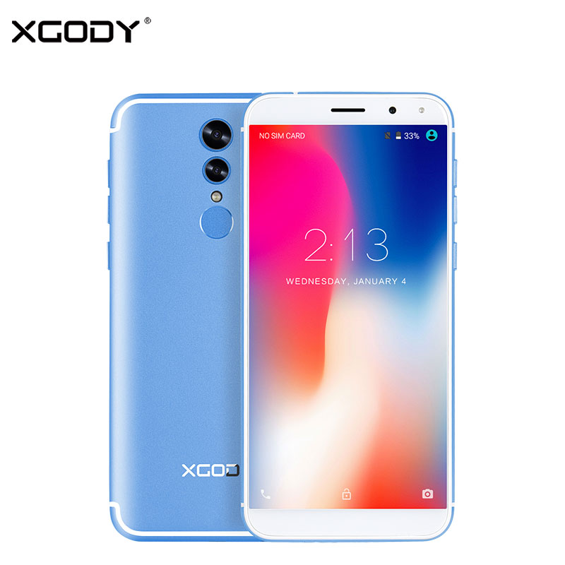 XGODY S12 Facial Recognition 4G LTE 5.72 Inch 18:9 Mobile Phone Android 7.0 Nougat 1+16 Fingerprint Smartphone 1080*540 2700mAh