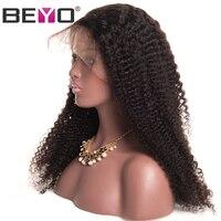 Бразильский кудрявый парик полный шнурок человеческих волос парики для Для женщин парик шнурка с ребенком волос предварительно сорвал нат