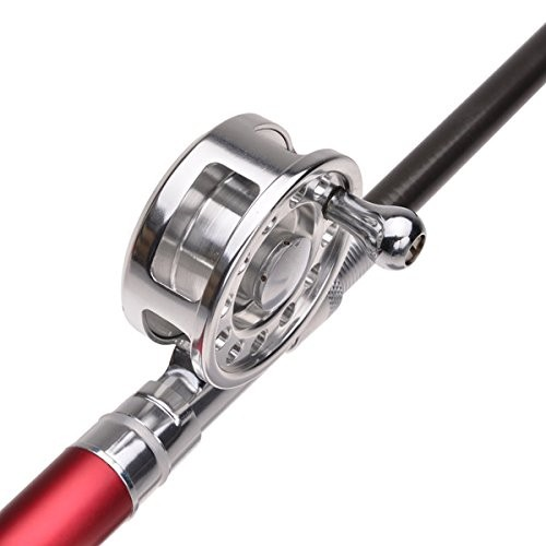 1.6m Telescopic pocket Aluminum Alloy Pen Fishing Rod Pole Reel Fishing Line Ball Floats Lures Bait Hook tackle Box accessory