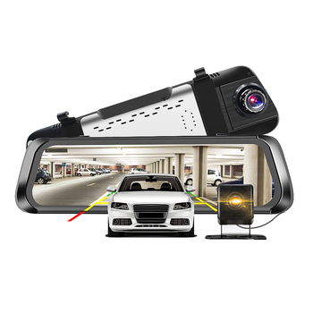 "Car DVR 4G Android 10"" IPS Stream RearView Mirror FHD 1080P Dash Cam Camera Video Recorder Auto Registrar night visionBlack Box"