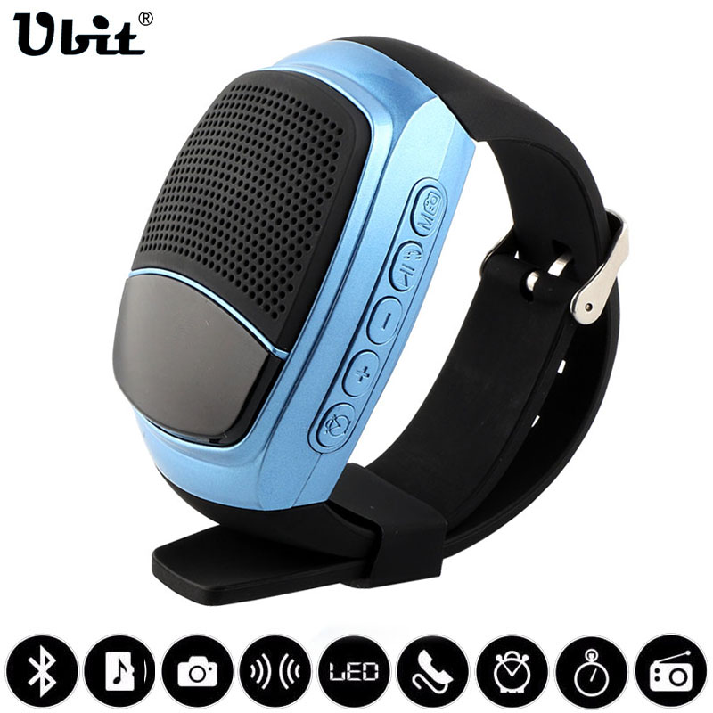 Ubit B90 Smart Watches Stopwatch Alarm Clock Sports Music Watch Hands free FM Radio Self timer
