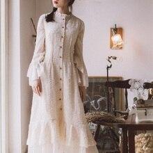 Ubei2019 весеннее платье с длинными рукавами и бабочкой, французское модное стильное белое праздничное платье феи, изящное женское длинное платье на пуговицах