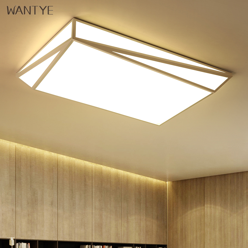 Surface Mounted Square LED Modern Geometric Ceiling Light Lighting Fixtures Living room Dining room Bedroom Acrylic White Black