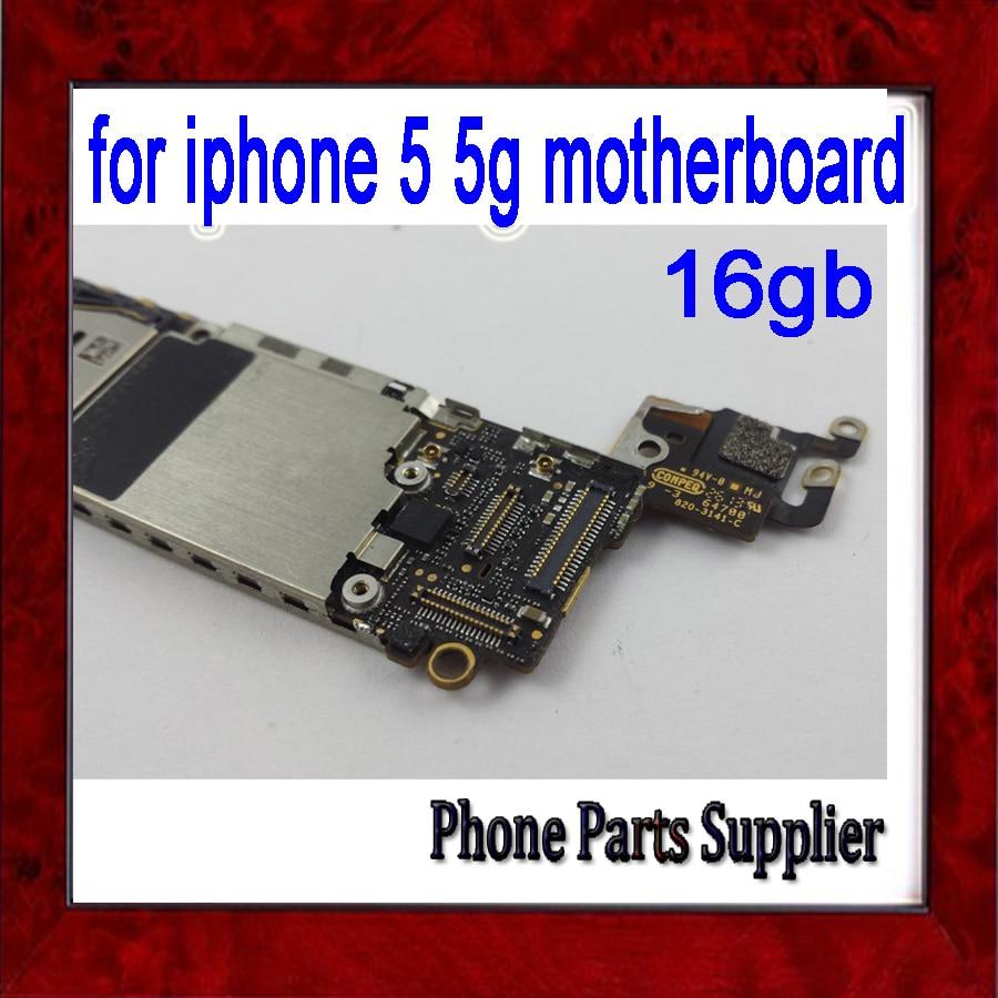 imágenes para 16 gb desbloqueado original para iphone 5 placa base, prueba del 100% para el iphone 5g placa base con patatas fritas, por el envío libre