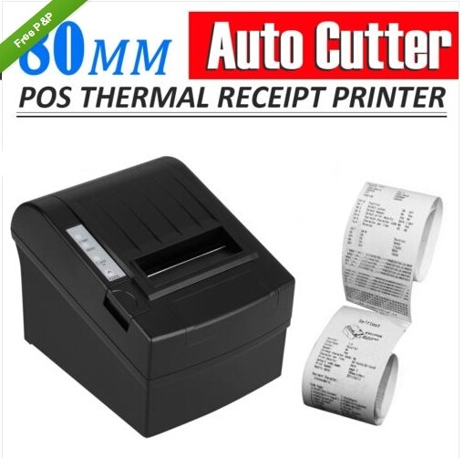 80mm 300mm/sec High Speed POS Thermal Receipt Printer Auto Cutter with paper roll_DHL