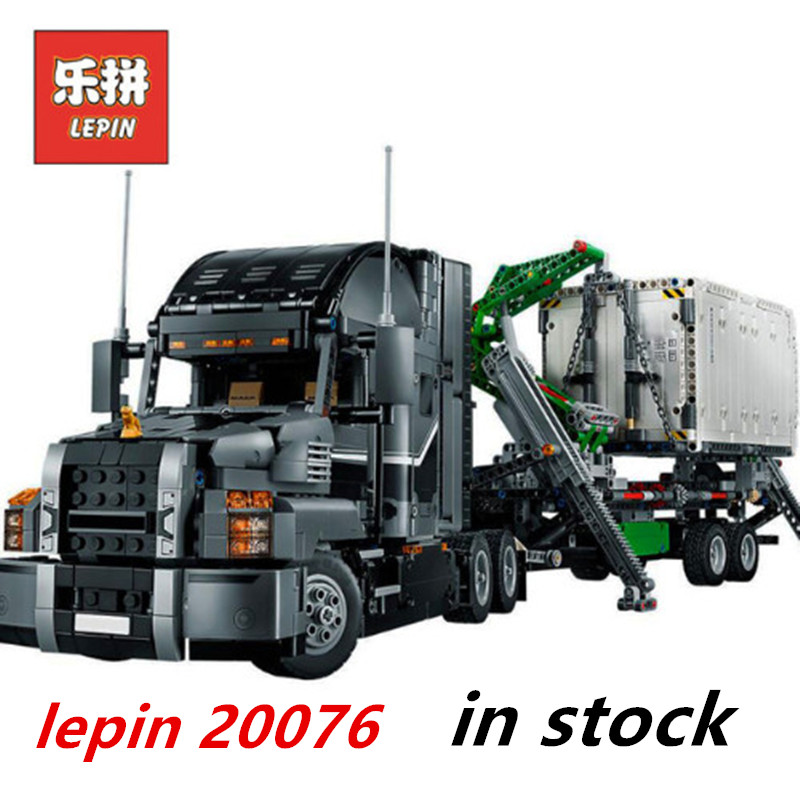 Lepin Technic truck 20076 lepin mack truck compatible legoing technic 42078 Mack Big Trucking set цены онлайн