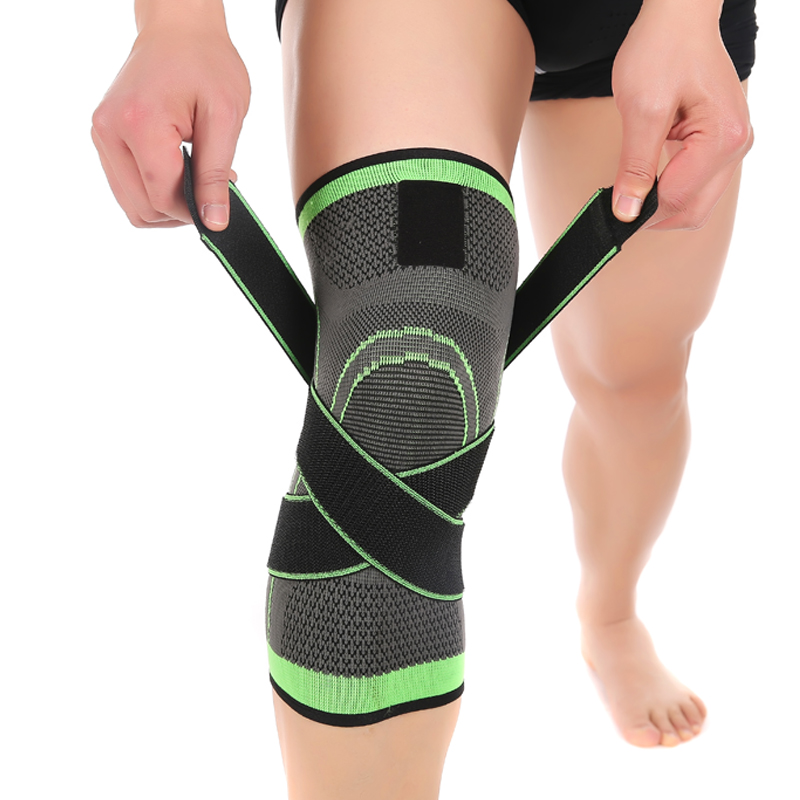 Prix pour 3D tissage pressurisation genouillère basket-ball de tennis, randonnée, cyclisme genou soutien professionnel de protection sport knee pad
