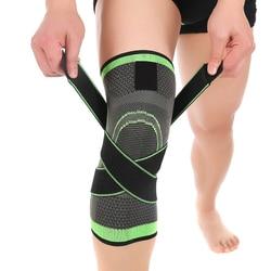 3D weaving pressurização suporte knee brace basquetebol tênis para caminhada ciclismo joelho protetor profissional joelheira esportes