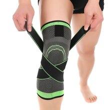 3D tejido de presurización de la rodilla ayuda de la rodilla brace baloncesto tenis senderismo ciclismo profesional deportes rodillera protectora