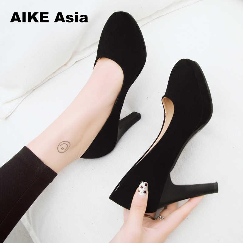 2019 New Woman Pumps Autumn Thick Heel Shoes Ol High-heeled Shoes Female The Trend Of Ultra High Heels Female Shoes