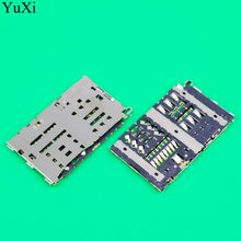 YuXi Sim card reader slot tray module holder connector for LG G6 H870 H870DS LS993 VS988 H872 socket(China)
