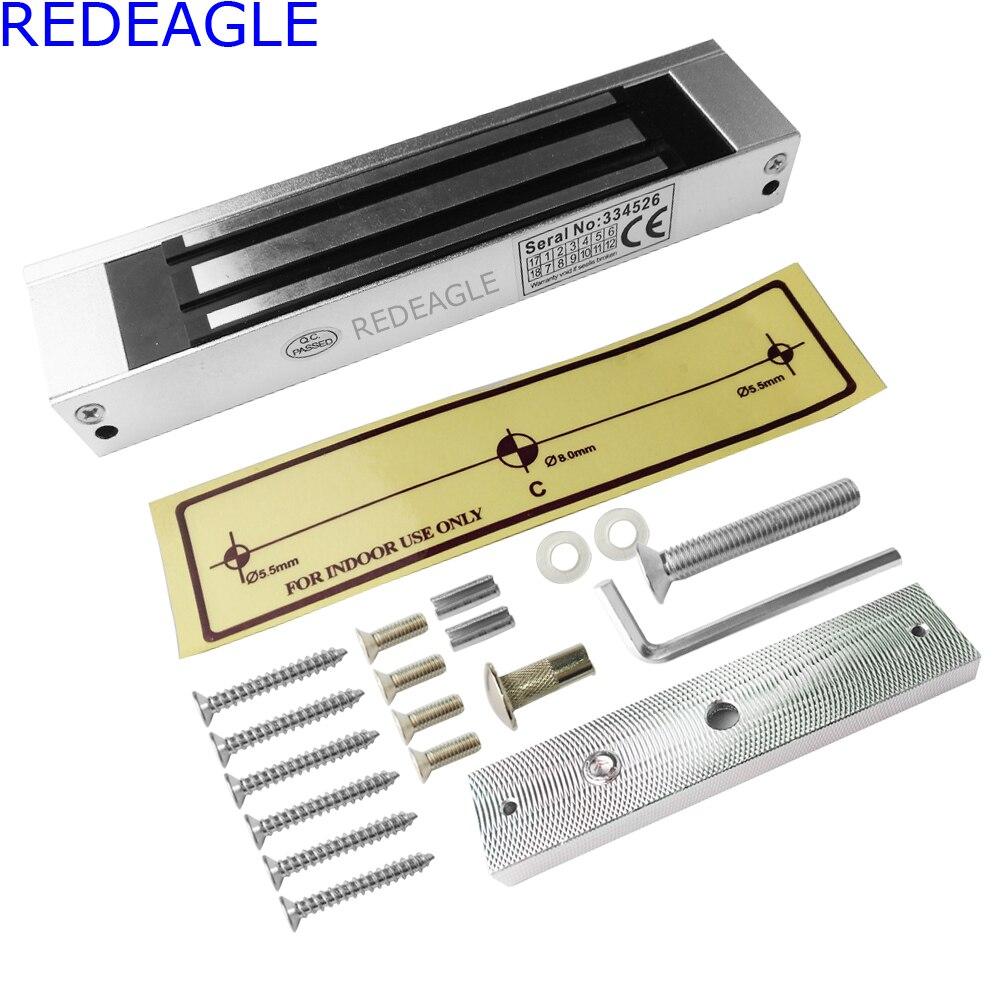 цена на 180KG 390LB Door Electric Magnetic Lock DC 12V Single Door Electromagnetic Lock Holding Force For Video doorphone Access Control