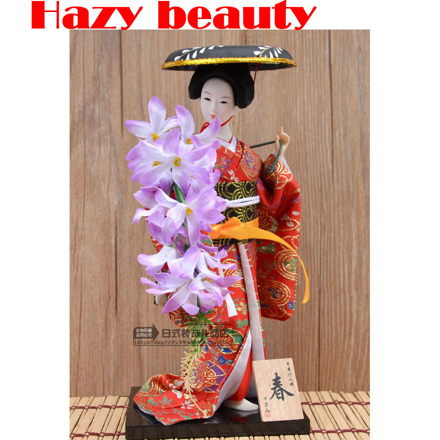 30cm Japanese geisha doll Japanese kimono doll Desktop Decoration home gifts 27 styles available statue
