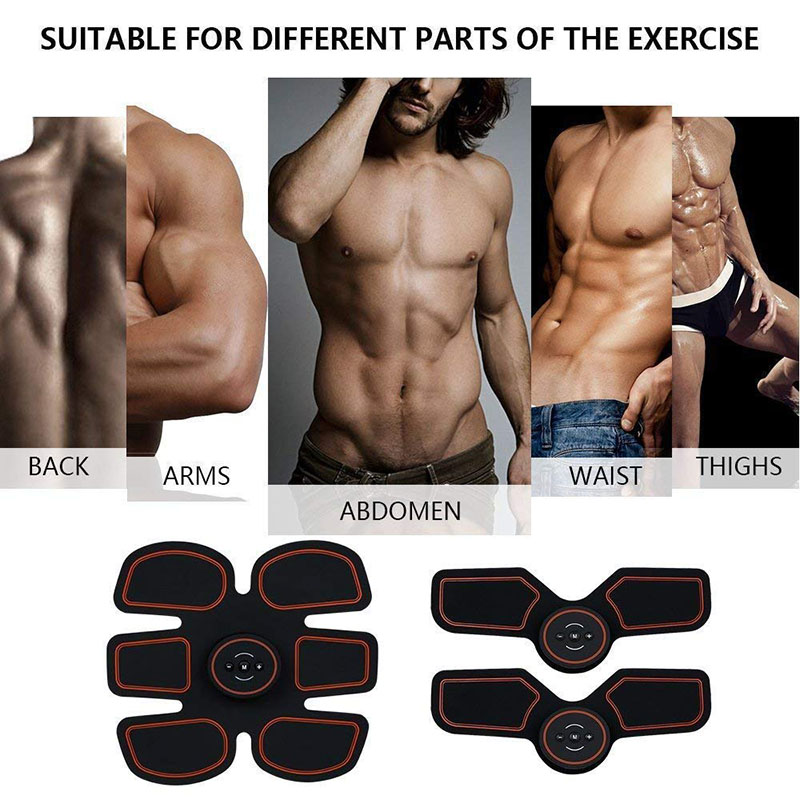Abdominal Muscle Trainer Electronic Wireless Fitness Muscle Body Stimulator Arm Leg Body Fat Burning Building Fitness Equipment in Accessories from Sports Entertainment