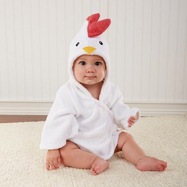 Los niños de modelado de dibujos animados albornoz pijamas de modelado animal Del bebé albornoz Playa Bebé capa 1 unids