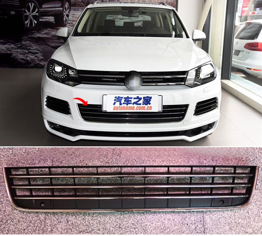 TEAEGG Front Hood Lower Grille Honey Comb Mesh Grill Fit F Volkswagen Touareg 2011-15