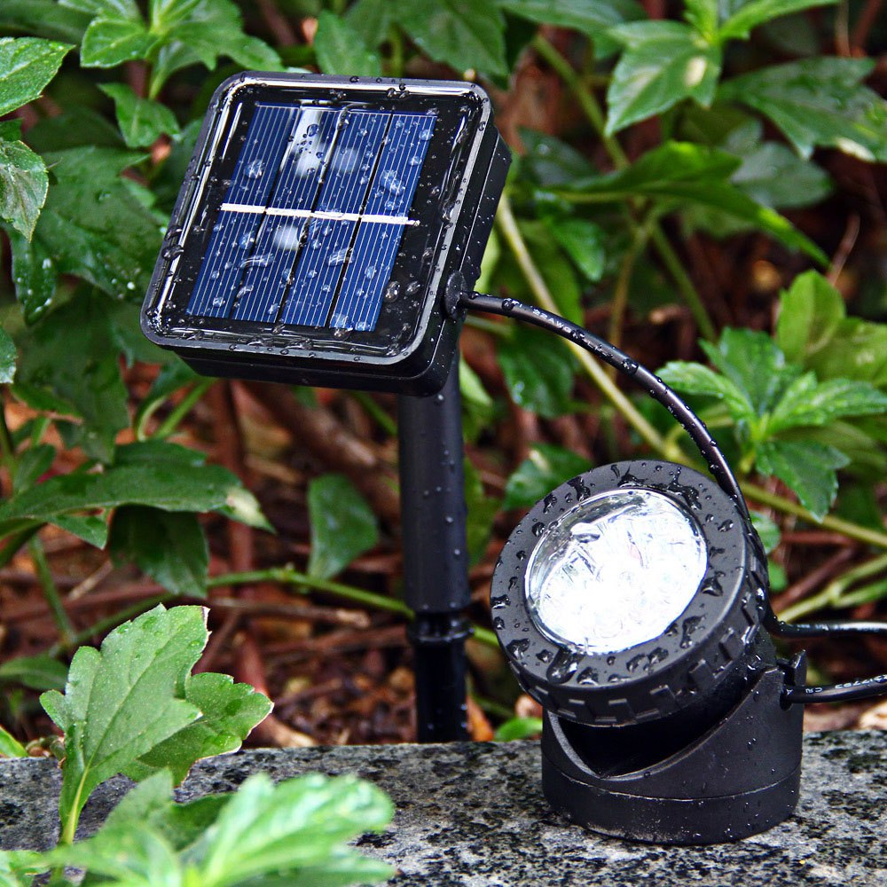 Led Solar Light Outdoor 6-LED White Light Solar-powered