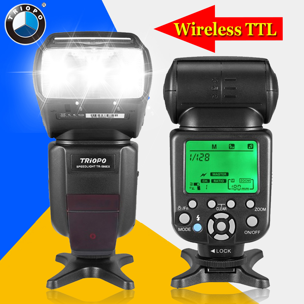 TRIOPO TR-586EX For Canon 6D 5D2 5D3 1200D DSLR Cameras Wireless TTL Flash Speedlite Flashlight As Yongnuo YN565EXII YN-568EX II new triopo tr 586ex wireless flash mode ttl speedlite speedlight for nikon d750 d800 d3200 d7100 dslr camera as yongnuo yn 568ex
