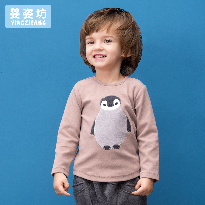 Toddler Sale Special Offer little boy girls Autumn Unisex Casual Cute Sleeves Cotton Penguin baby Tees Kids infant T-shirts