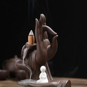 Image 5 - Brûleur dencens en céramique chaude Tathagata bouddha cônes dencens porte bâton maison créative