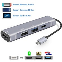 Dex Station for Samsung Galaxy Note 8 S9+ S8+ USB Type C HUB With HDMI 4K USB 2.0 3.0 Port Thunderbolt 3 Adapter for MacBook Pro все цены
