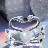 Retailer Bridal Shower Favors High Quality Choice Crystal Kissing Swans Wedding Favor And Gift For Guest
