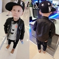 2016 new Fashion Style Boys Leather Jackets Kids Outerwear spring/Autumn Children PU Leather Coats Casual  for boys jackets 3-8Y