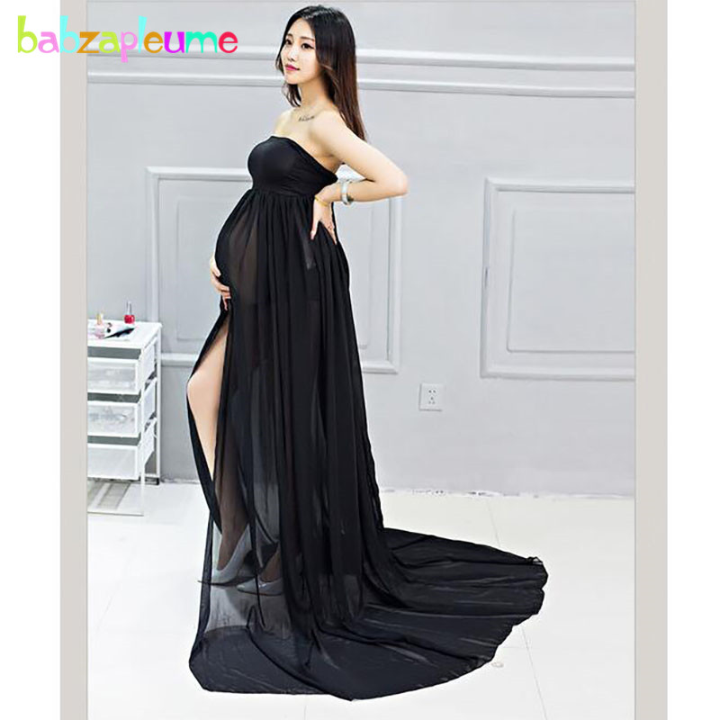 0b030325abfca US $17.9 30% OFF|2018 Summer Maternity Long Dress For Photograph Pregnancy  Clothes Plus Size Chiffon Sexy Pregnant Dresses For Photo Shoot BC1379-in  ...