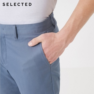 Image 4 - SELECTED New Mens Cotton Micro elastic Simple Business Casual Pants S