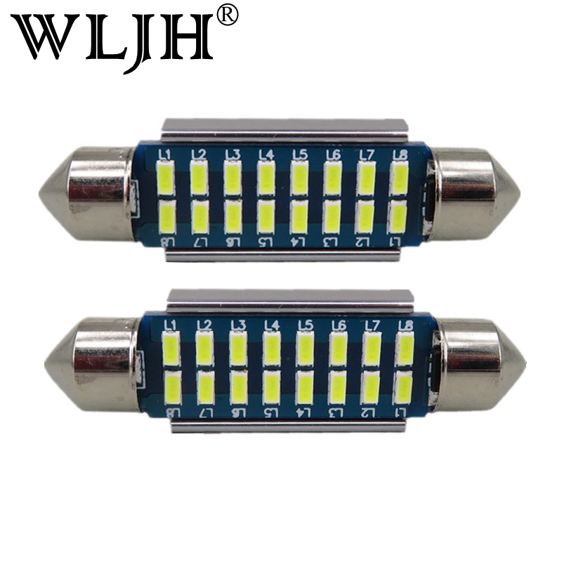 где купить WLJH 2pcs CANbus LED 36mm C5W Lamp Bulb Registration Number Plate License Light For Benz W169 W203 W208 W209 W210 W211 W212 по лучшей цене