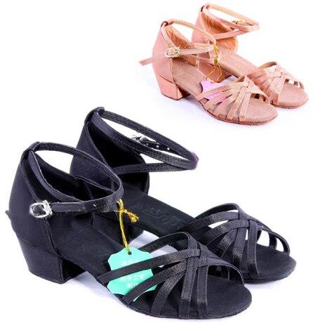 Дешевые бесплатная доставка женские девушки дети бальных латиноамериканских танцевать сальсу туфли для танцев для танца # A2166