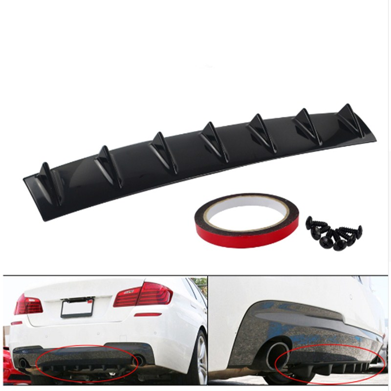 Chassis shark fin Car Bumper Lip Deflector Lips For universal Car Tail Spoiler Skirt Car Tuning Body Kit Strip Auto Accessories|Bumpers| |  - title=