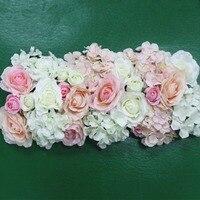 Цветок из искусственного шелка 2 шт 50 см свадебные дороги свинцовые гортензии цветки пиона и розы свадебная АРКА квадратный павильон углы Д...