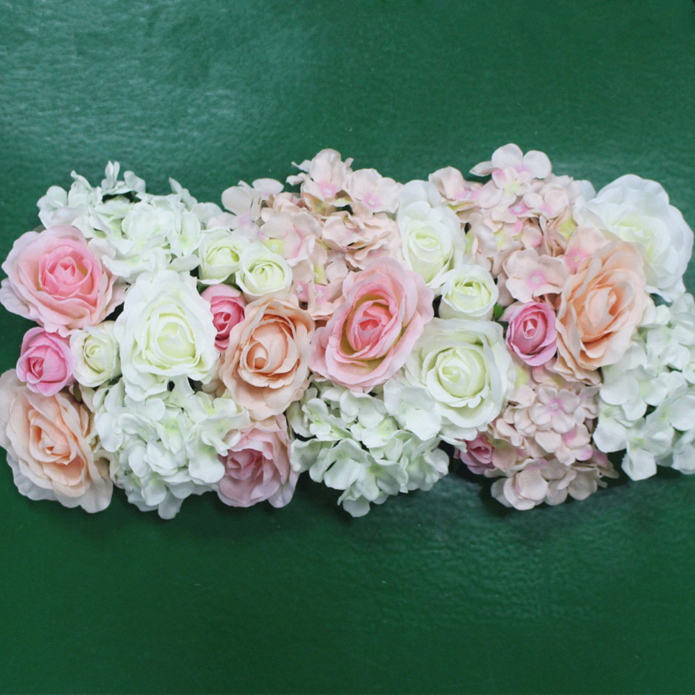 Online buy wholesale road flower for wedding from china road flower artificial silk flower wedding road lead hydrangea peony rose flower for wedding arch square pavilion corners izmirmasajfo