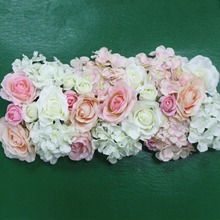 Flor de seda artificial 2 pces 50cm estrada do casamento chumbo hortênsia peônia rosa flor casamento arco quadrado pavilion cantos decoração flores