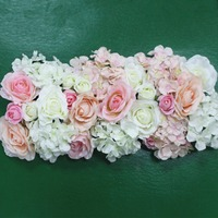 Artificial Silk Flower Wedding Road Lead Hydrangea Peony Rose Flower For Wedding Arch Square Pavilion Corners