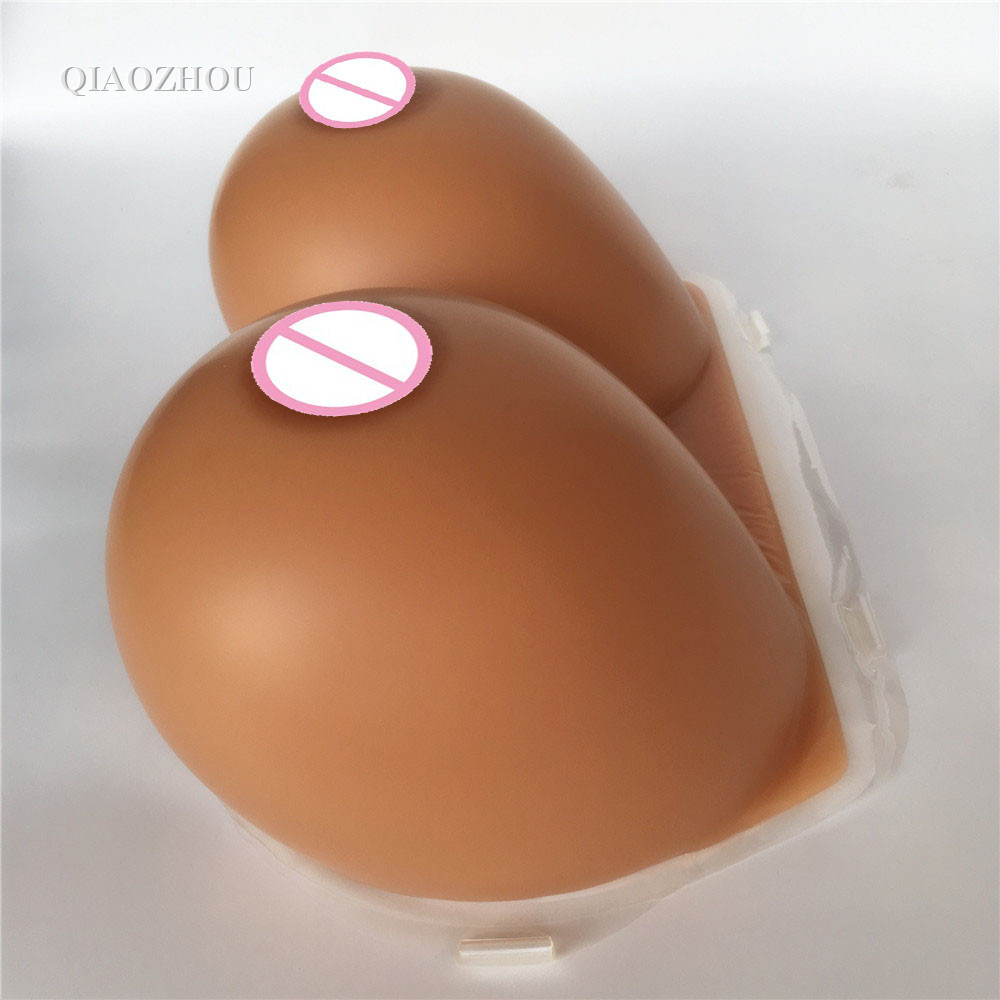 shemale breast form 4600g sexy big crossdresser silicone artificial breasts Fake Boobs drop shipping wholsale