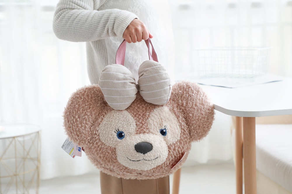 Kawaii Anime 45cm Shelliemay Bear Plush Soft Hand Bag Duffy Bear Face Plush Tote Bag Handbag Shoulder Bag Large Plush Backpacks in Plush Backpacks from Toys Hobbies