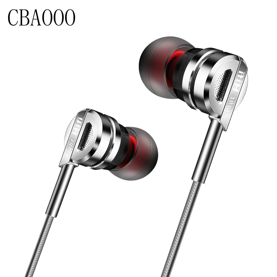 Hot Hifi Metal Earbuds Earphones With Microphone Noise Canceling Bass In Ear Audifonos For Mobile Phone Airpods Headset Gamer