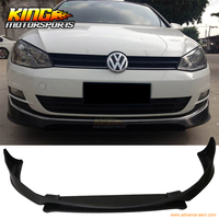 For 15 16 VW Golf 7 Type A Front Bumper Lip Spoiler Unpainted PU