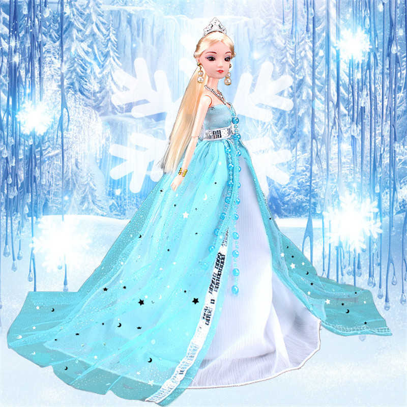 Fantasy Princess Dress Outfits For Barbie Doll Clothes Accessories Play House Dressing Up Costume Kids Toys Gift