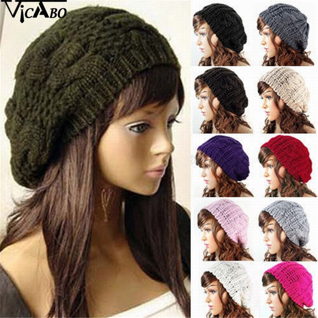 2288e8dfaa5 VICOBA 7 colors Women New Design Caps Twist Pattern Women Winter Hat  Knitted Sweater Fashion Beanie Hats For Women Snow Gorros