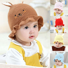 New Baby Kids Boys and Girls Hat Newborn Babies Cotton Knitted Cartoon Rabbit Ear Caps Hats For Beanies Cap