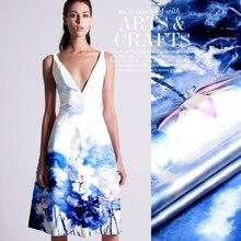 Digital silk fabric mulberry elastic satin clothes material