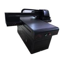 6090 digital inkjet printer 2019 XP600 T shirt glass hard board ceramic flatbed UV printer