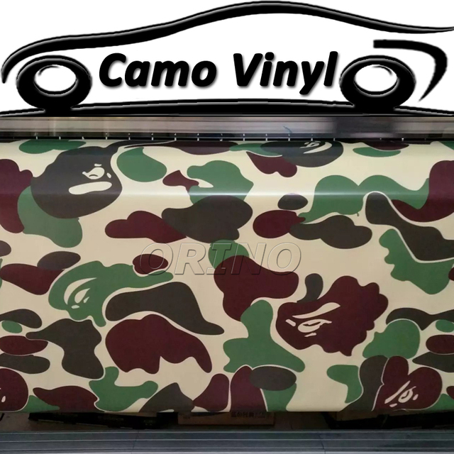 Army green camouflage vinyl wrap military green camo sticker foil car body covers wrapping size