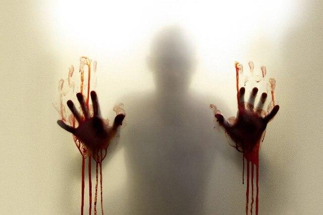DIY frame THE WALKING DEAD horror drama dark zombie blood cloth silk ...