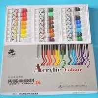 24colors 12ml Textile Fabric Paints set Cloth painting Acrylic paint Drawing Art pen set Deco Art
