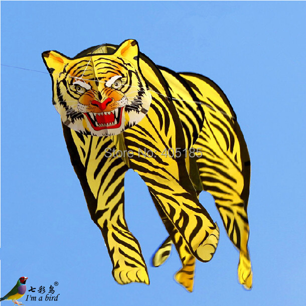 Free Shipping Outdoor Fun Sports 2m 3D Tiger Kite Good Flying tiger 3d k one голубая